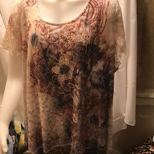 NWT sz 3x lace top by simply Emma